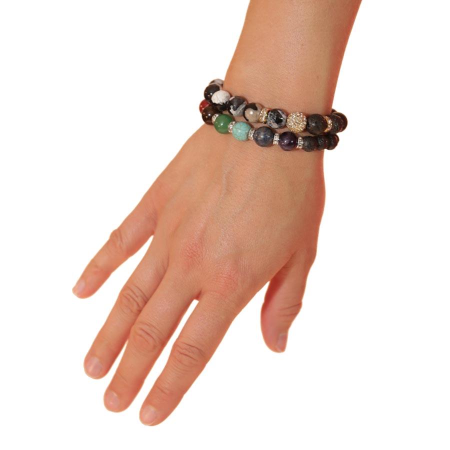 Lava & Gemstone Diffusing Bracelets