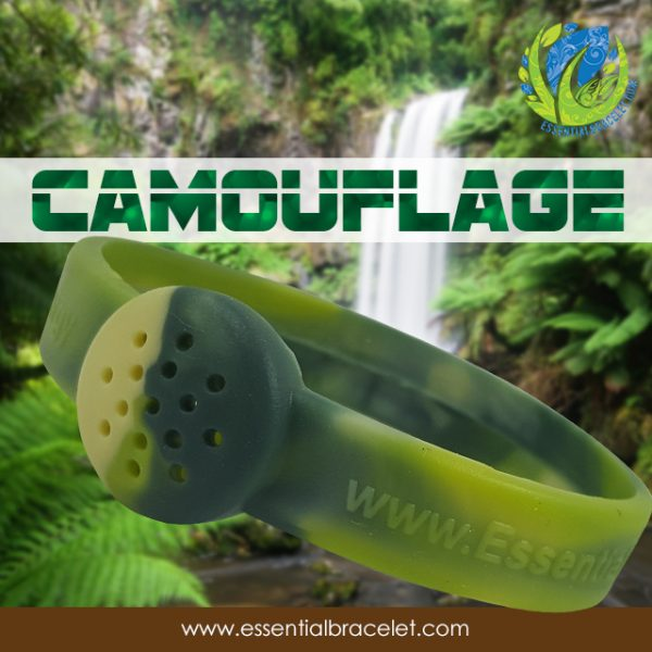Camouflage aroma therapy bracelet