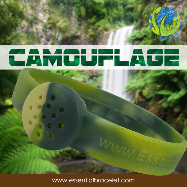 Camouflage aroma therapy bracelet