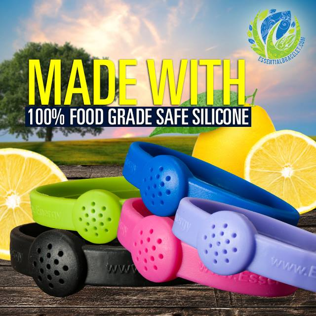 Made with 100% food grade safe silicone (title with outdoor backgound)