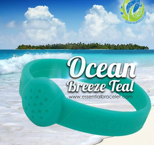 Ocean Breeze Teal essential oil bracelet jewelry