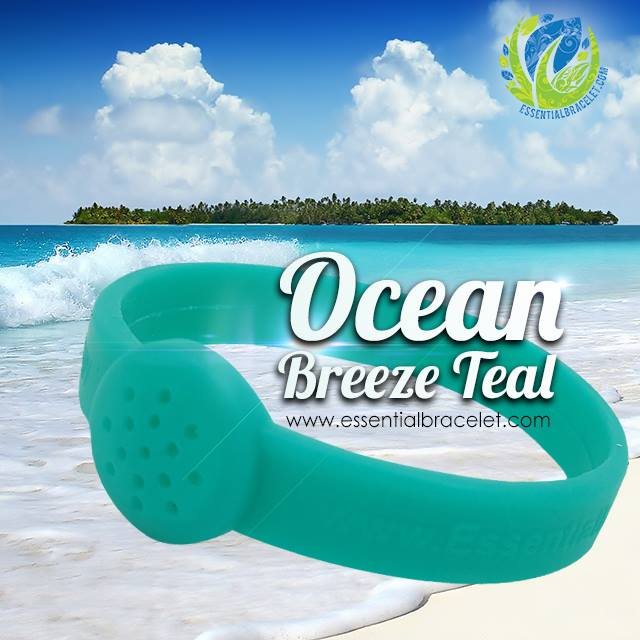 Ocean Breeze Teal essential oil bracelet jewelry