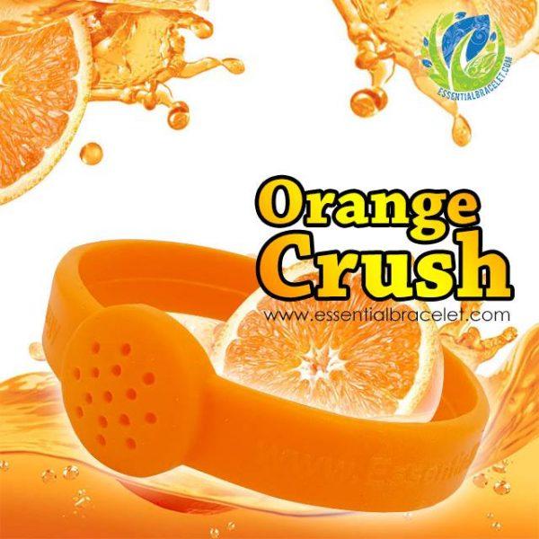 Orange Crush aromatherapy silicone diffusing bracelet