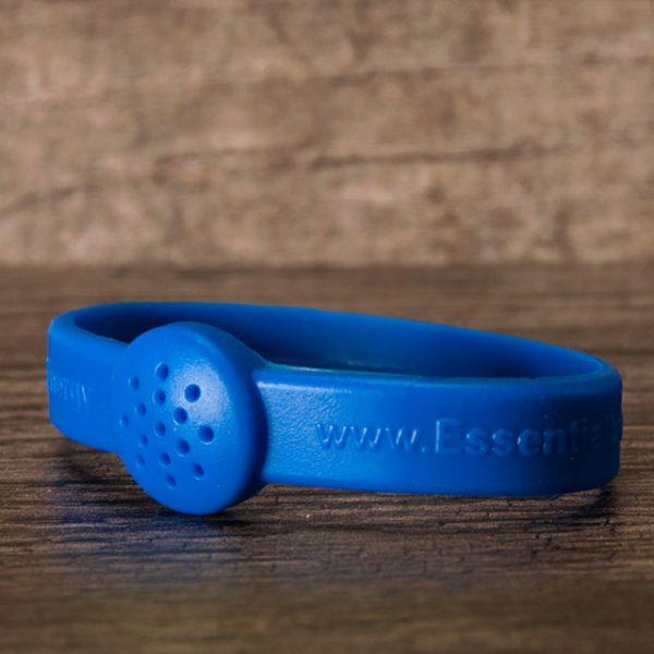 Blue rubber livestrong bracelet for essential oils
