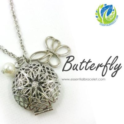 Butterfly Essential Oil diffusing locket pendant