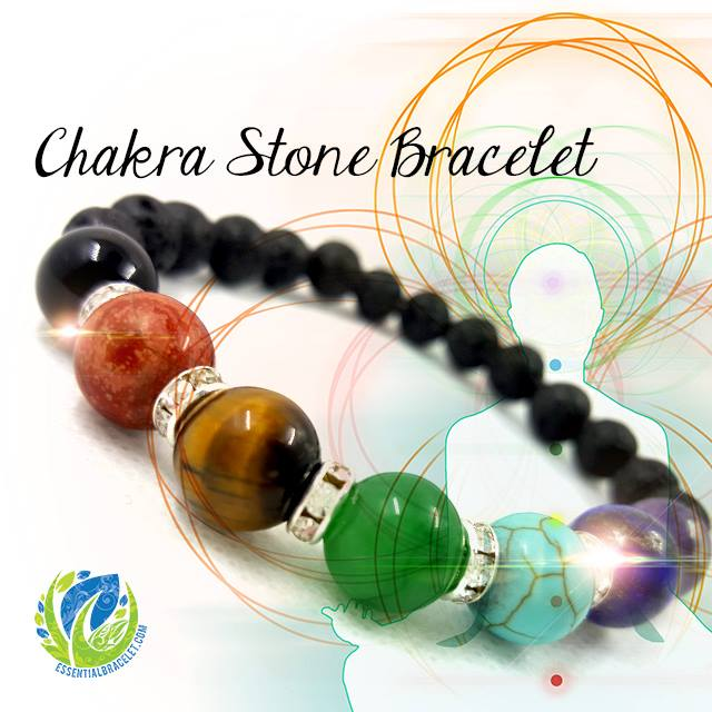 Chakra Stone Bracelet for diffusing essential oils