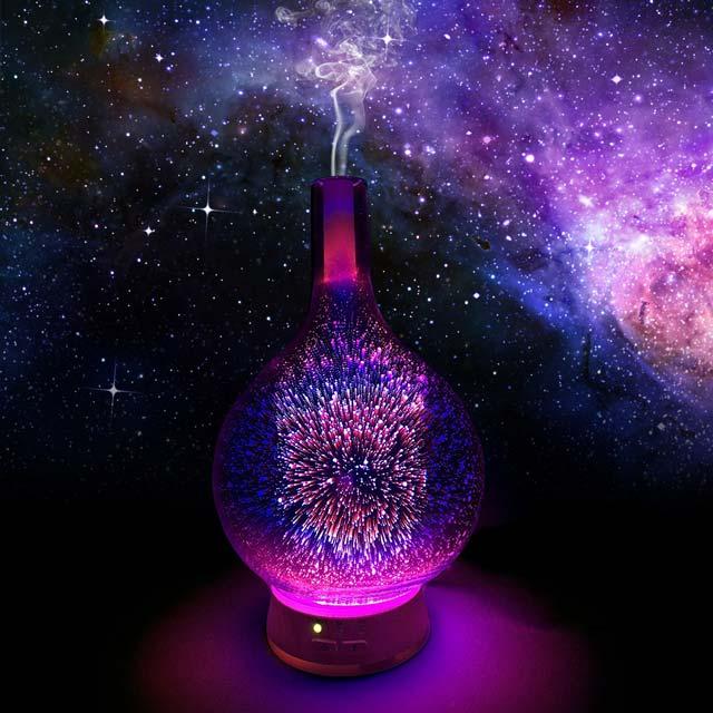 Cosmo long stem glass aromatherapy diffuser (Purple)