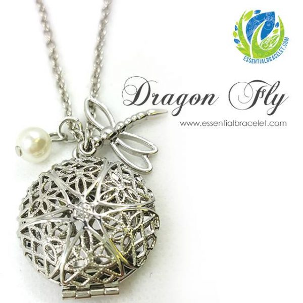 Dragon Fly essential oil jewelry locket pendant necklace