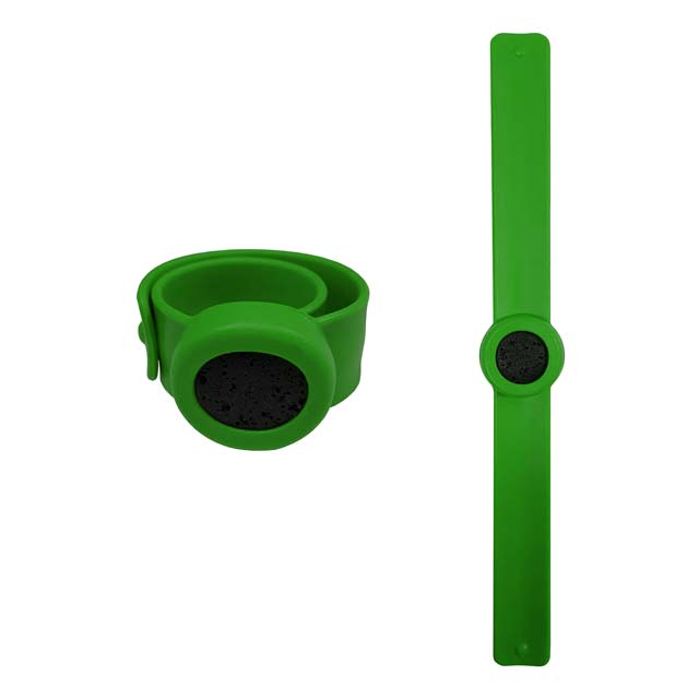Silicone rubber slap bracelet for aromatherapy (lime green)