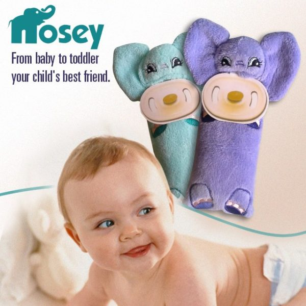 Nosey - plush toy aromatherapy soother holder
