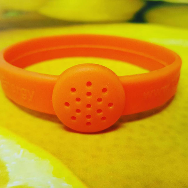 Orange Crush citrus essential oil diffusing bracelet