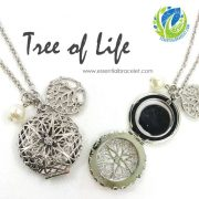 Tree of Life necklace pendant with locket for aromatherapy
